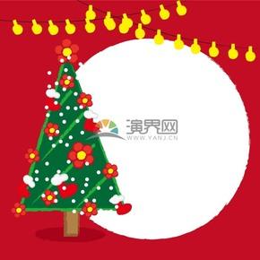 圣诞红色背景矢量素材