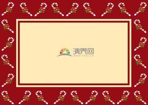 红色圣诞节边框