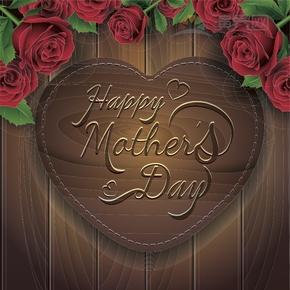 玫瑰花母亲节节日快乐背景图设计