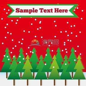 创意圣诞节圣诞卡片插图素材