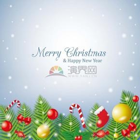 圣诞节圣诞元素彩球圣诞背景