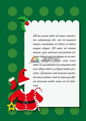 创意圣诞节圣诞老人装饰卡片边框素材
