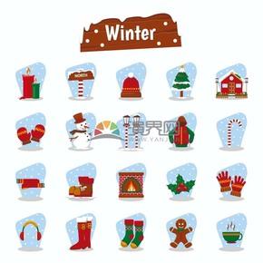 冬季图标矢量素材