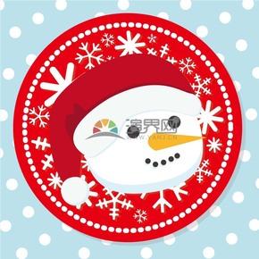 创意圣诞节圣诞老人卡片插图素材