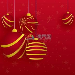 红色圣诞节立体卡片素材