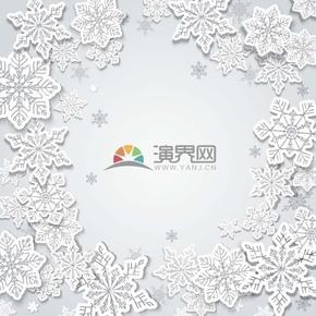 圣诞节雪花背景素材
