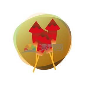 红色鞭炮春节素材