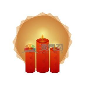 红色蜡烛素材