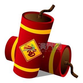 福字红色鞭炮春节素材