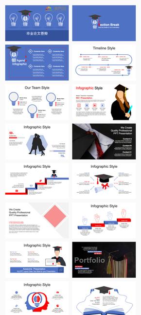 畢業論文答辯模板PPT模板