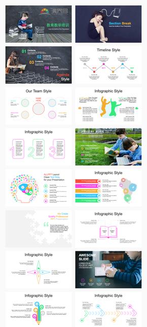 教育教學培訓PPT模板
