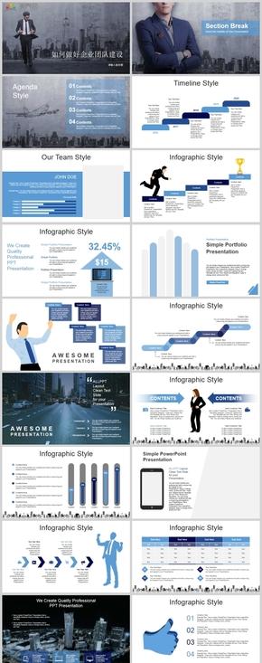 如何做好企業團隊建設PPT模板