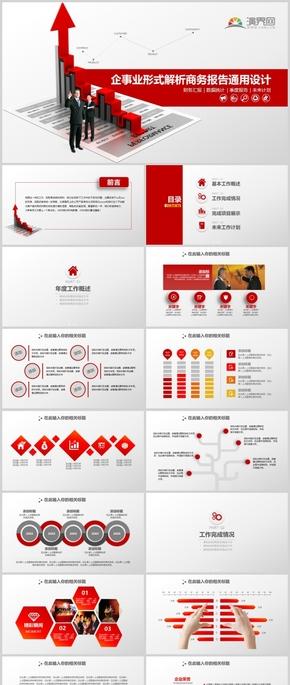 商务报告通用设计ppt模板