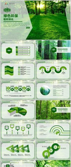 绿色环保工作汇报ppt模板