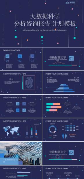 【数据科学】高端紫色大数据科学分析咨询报告.计划模板