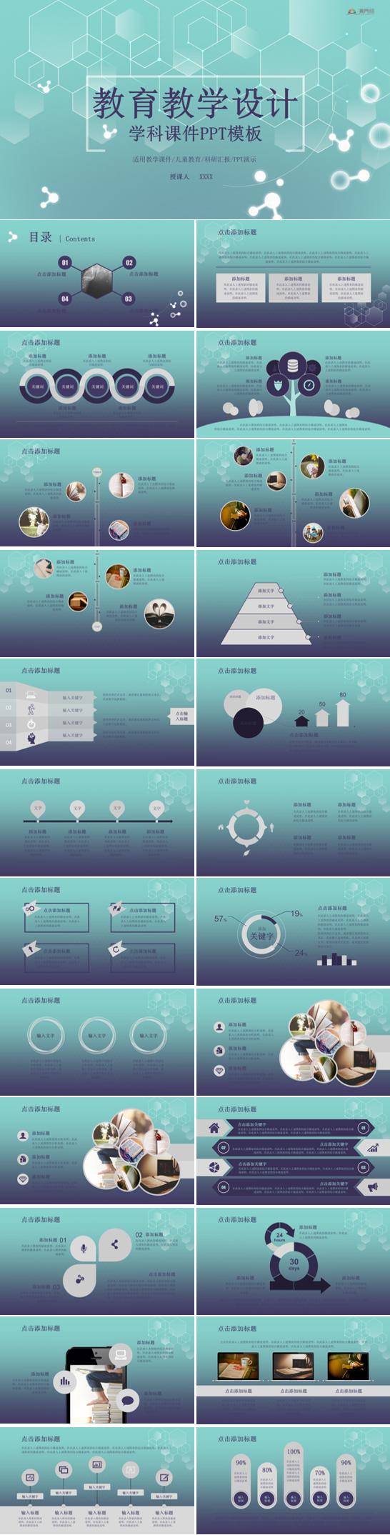 教育教学设计学课课件PPT模板