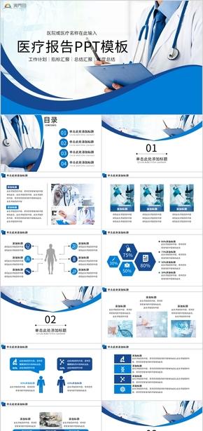 醫療工作報告PPT模板