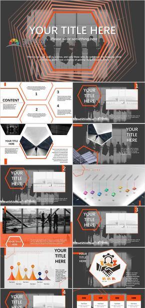 橙色 商務風  工作匯報總結有動畫和圖表