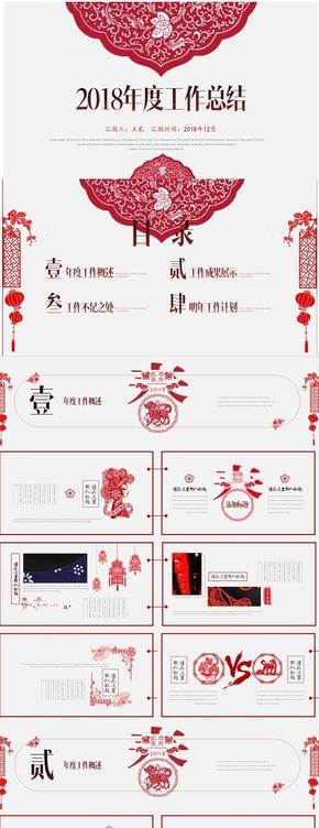 【年度巨献】极致创意剪纸艺术商务通用PPT模板