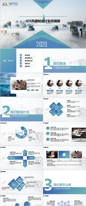藍色簡約創業商業計劃書