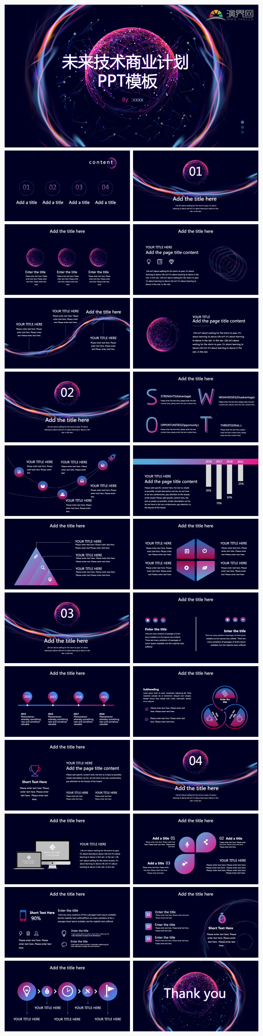 未来技术商业计划PPT模板