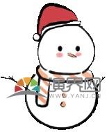 圣诞卡通小雪人
