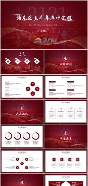 红色春节节日庆典年会颁奖年终总结汇报PPT模板