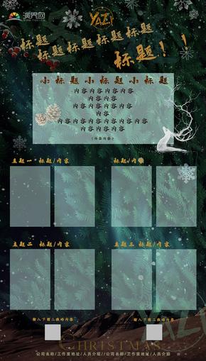绿色完整节日圣诞商业个人宣传海报适打印psd模版图文可编辑