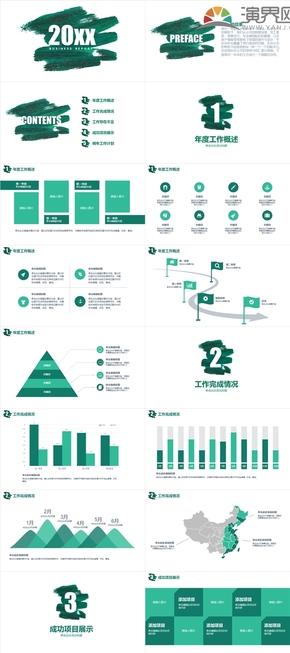 绿色企业总结、企业介绍模板