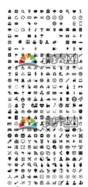 几百种小icon素材