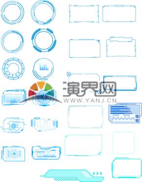 科技感icon素材