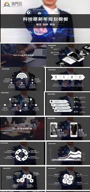 新年规划企业商务通用PPT模板