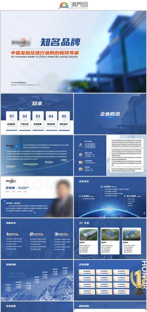 公司介绍 企业发展规划PPT模板