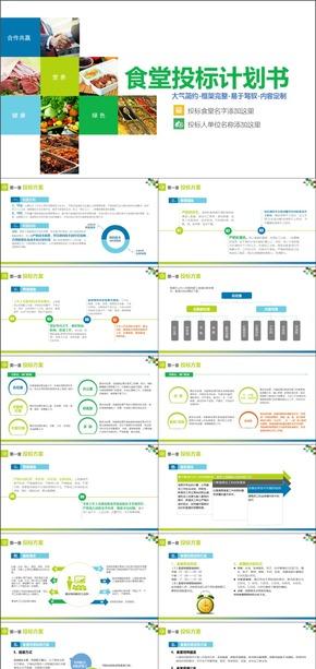 框架完整含内容食堂投标方案PPT