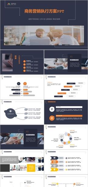 商务营销执行方案销售策略策划演示模板