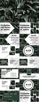 绿色植物个人汇报PPT模板