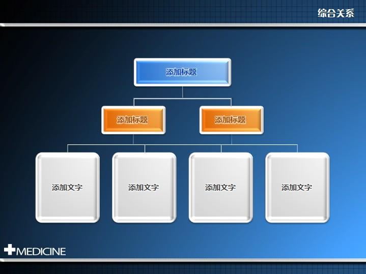 立体三层组织结构图ppt图表