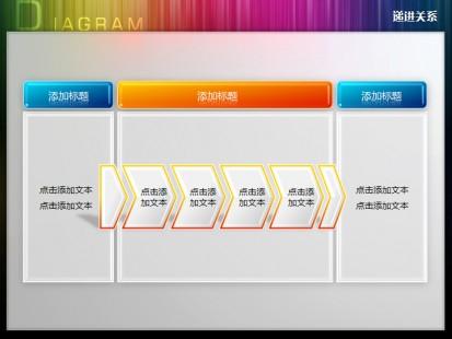 三阶段六步骤递进关系ppt图表