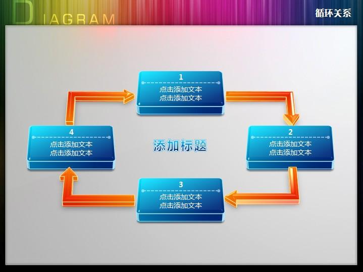 四步骤依次演进循环关系ppt图表
