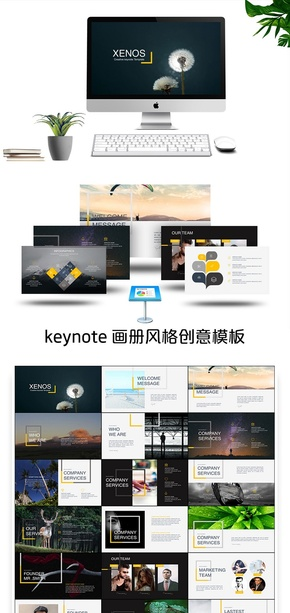 金色画册风格商务汇报keynote模板