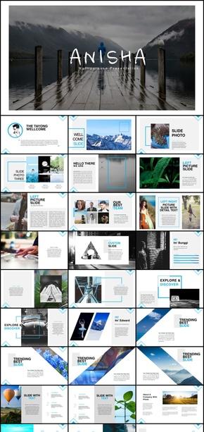 keynote杂志画册版式风格模板