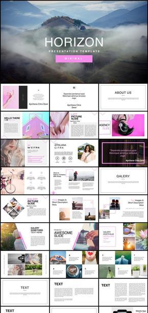keynote极简粉红个性创意模板