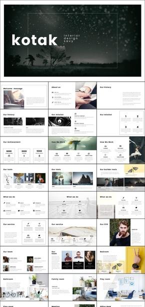 简洁画册风格keynote商务模板