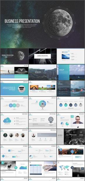 keynote高端质感商业计划书汇报宣传模板