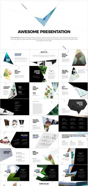 keynote时尚商务几何风格模板