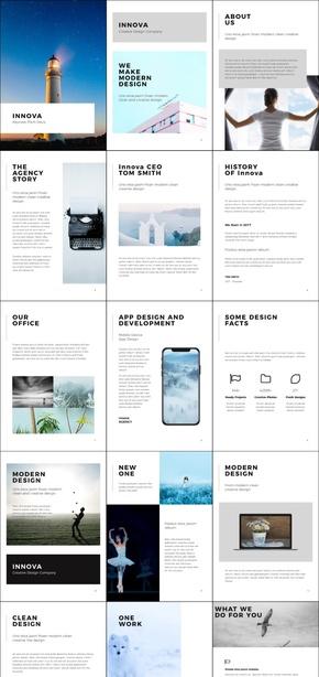 竖版A4杂志画册风格商务商业计划汇报keynote模板