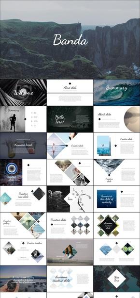 创意艺术画册风格keynote个性模板