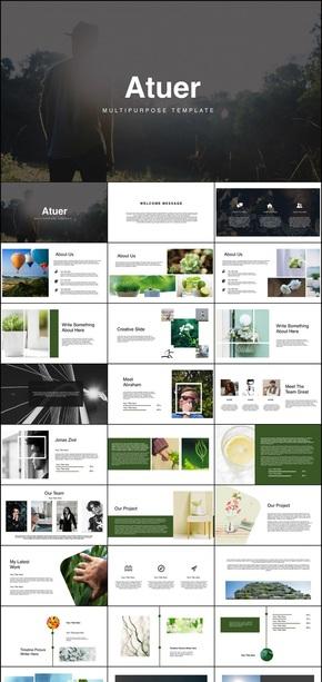 极简keynote画册风格个性清新模板