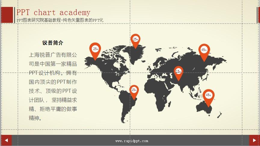 纯色矢量地图图表.pptx