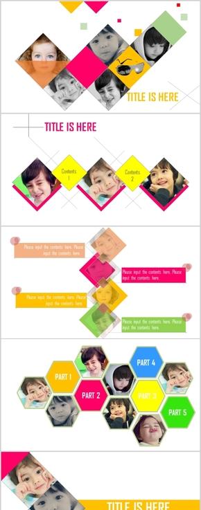 绚彩儿童艺术PPT模板